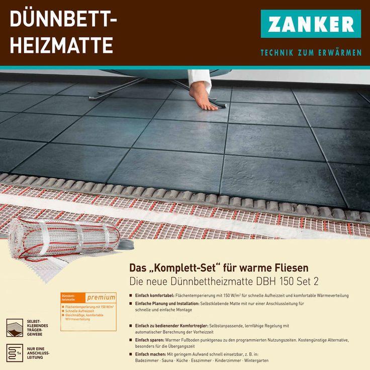 Badheizung Elektroheizung Elektrische Fußbodenheizung Thermostat Bodenheizung