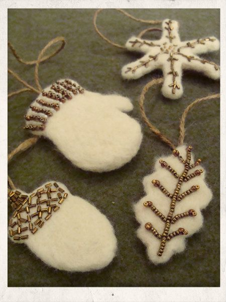 Humblebeads Blog: Ornament Party ~ Needle-Felted Ornies