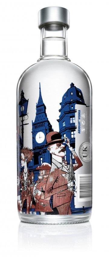 Absolut Vodka Limited Edition London Bottle by Jamie Hewlett