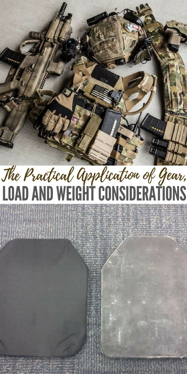 The Practical Application of Gear, Load and Weight Considerations - The author talks about things like combat loads that include plates as well as the idea of upper limits in carrying weights. These are all great ideas for understanding what's possible. When it comes to gearing up its hard not to what to take everything but that's not always possible.