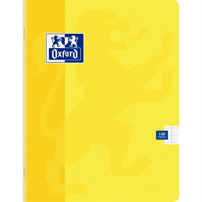 oxford papeterie | OXFORD Cahier 140 Pages 17x22cm JAUNE - Achat / Vente cahier OXFORD ...