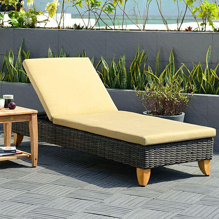 Leżaki, siedziska, leżanki : Sydney - meble ogrodowe z technorattanu leżak ogrodowy - Twoja Siesta