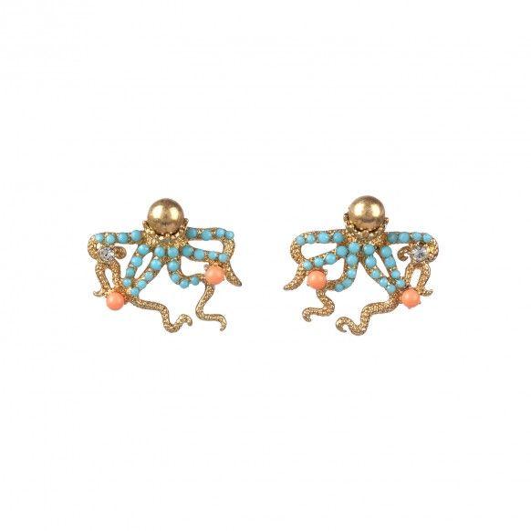 Boucles d'oreilles pieuvre