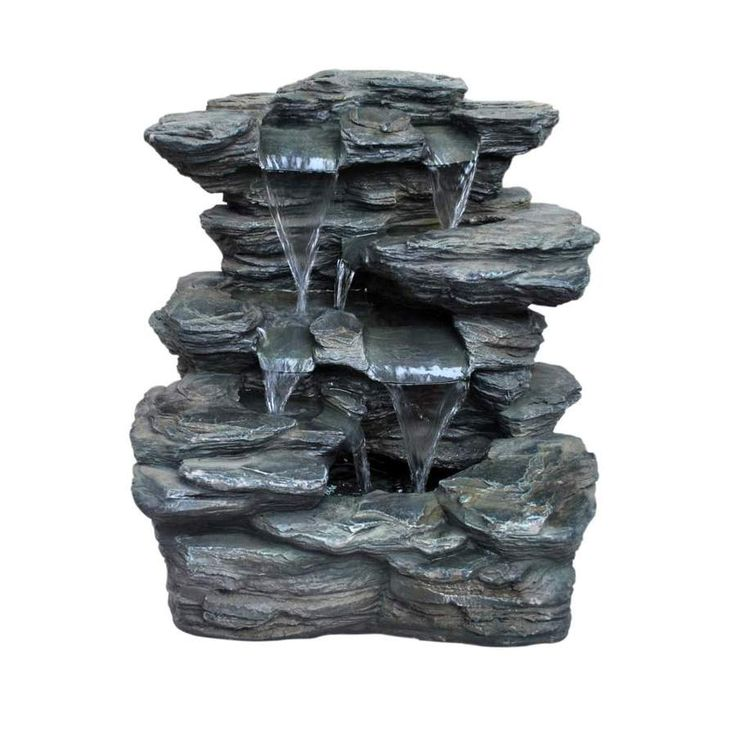 Slate Rock Fountain At Lowes Com Outdoors Pinterest