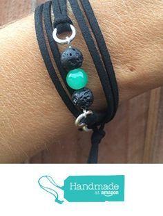 Essential Oil Lava Bead Diffuser Bracelet | Vegan Friendly Faux Suede Wrap Bracelet | Aromatherapy Diffuser Bracelet from The…