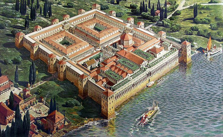 Palace of the Roman Emperor Diocletian, around which the Croatian city of Split emerged.