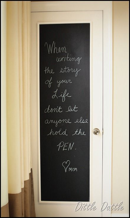 """""""When writing the story of your life, don't let anyone else hold the pen"""""""