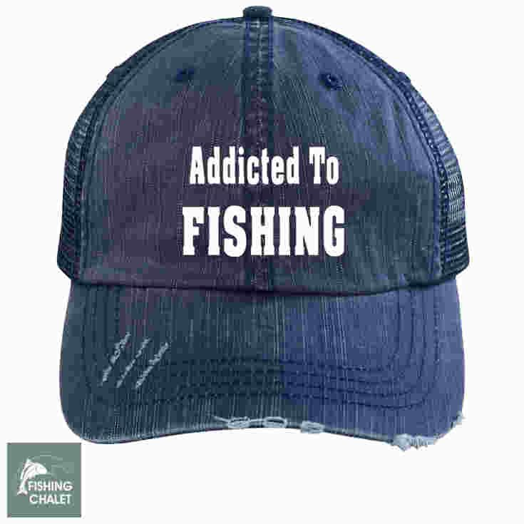 Addicted To Fishing Trucker Cap  9326c393325