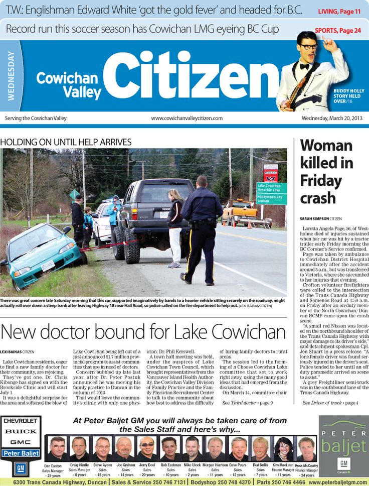 Citizen Front Page, March 20, 2013