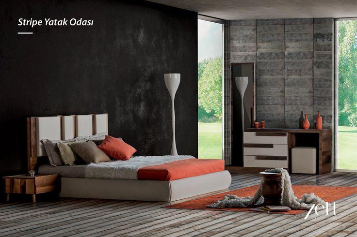 Stripe Yatak Odası ile her güne enerjik başlayın. www.zettdekor.com #Zett #Zettdekor #Mobilya #Dekorasyon #Aksesuar