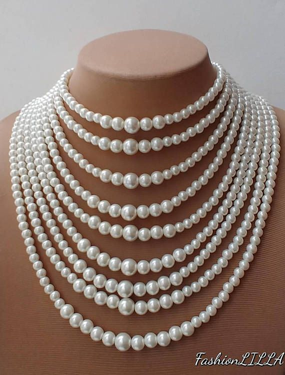 Check out this item in my Etsy shop https://www.etsy.com/ca/listing/585240091/multilayer-graduated-pearl