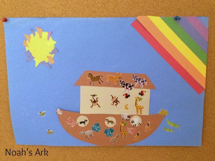 Noah 39 s ark preschool craft crafts pinterest for Noah and the ark crafts