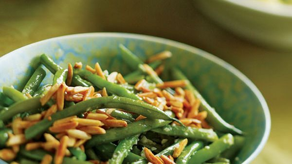 Green Beans with Toasted Slivered Almonds - Recipe - FineCooking