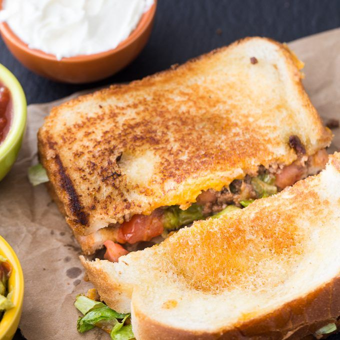 Taco Grilled Cheese Sandwich from Simply Stacie