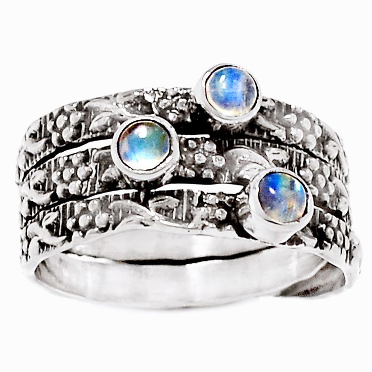 Rainbow Moonstone 925 Sterling Silver Ring Jewelry S. 7 RR8756 | eBay