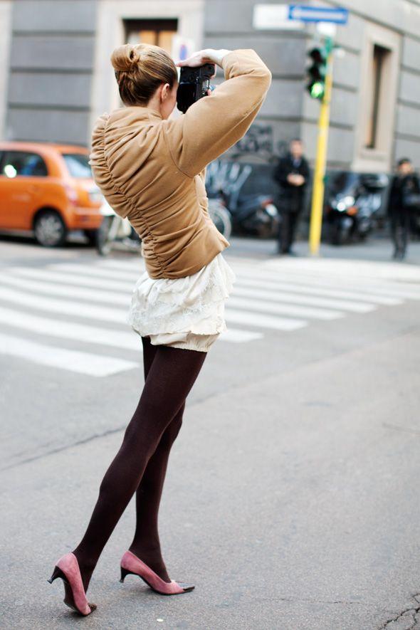 —On the Street….Via Senato, MilanBlair Colors, Winter Jackets, Style, Design Clothing, Colors Tights, Street, Fashion Inspiration, Kittens Heels, Cameras