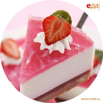 Клубнично-йогуртовый торт
