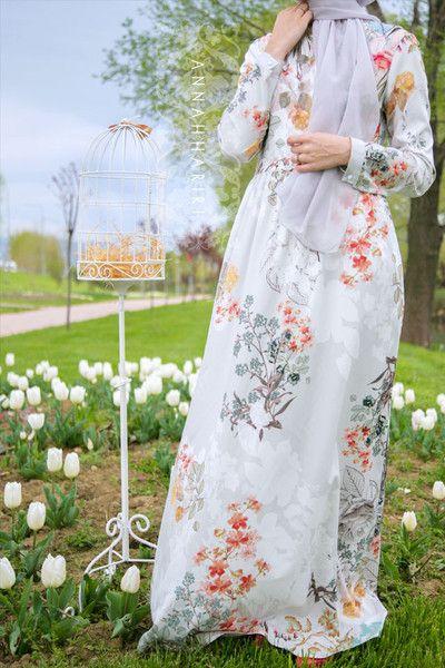 Abayas and maxi dresses online www.annahariri.com Maye Dress in Grey