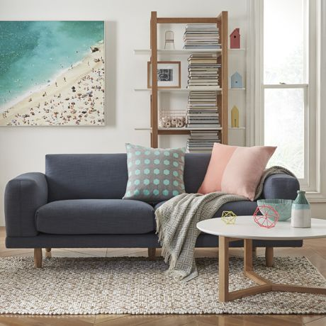 Folded 3 Seat Sofa in Austria Navy | was $1799 NOW $1299 #thefreedomsale #freedomaustralia