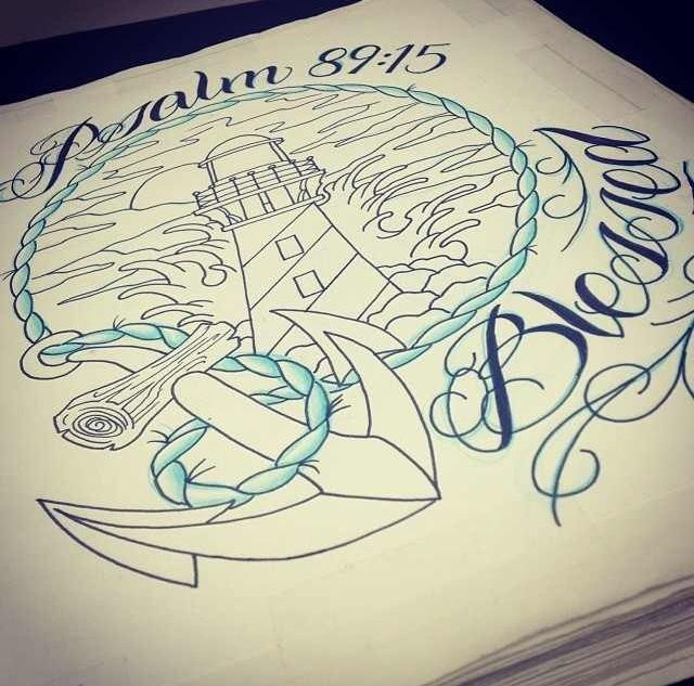Psalm tattoo. Anchor. Christian tattoo.