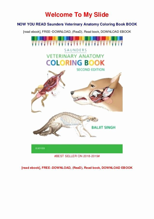 - Saunders Veterinary Anatomy Coloring Book New Saunders Veterinary Anatomy  Coloring Book Books Full Onlin… In 2020 Anatomy Coloring Book, Coloring  Books, Cat Coloring Book
