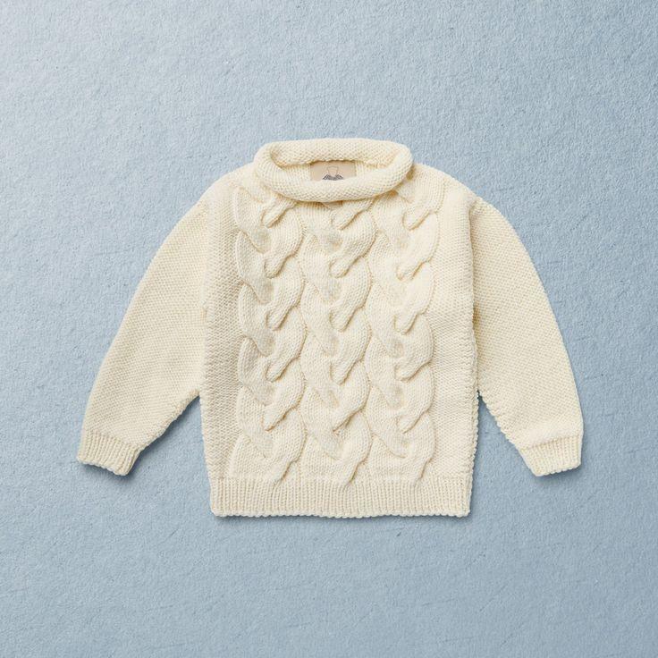 KNIT KIT ANNI, Van Beren knit pullover ANNI, merino wool, mini&me
