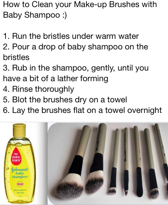 Cleaning makeup brushes This works so well! So much