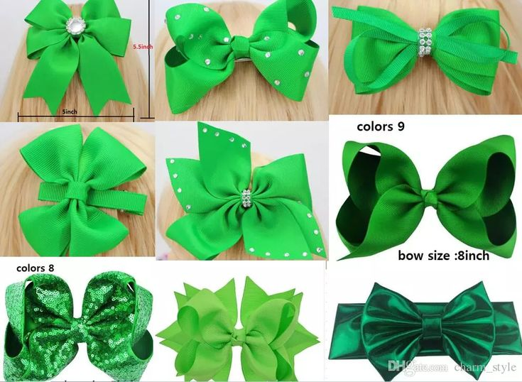 2018 New Arrival 10 Style Available ! St. Patrick'S Day Glitter Ribbon Cheer Hair Bow With Hair Clip For Girls Gift Drop Shipping / Flower Girl Hair Accessories Flower Hair Accessories From Charm_style, $9.25| Dhgate.Com