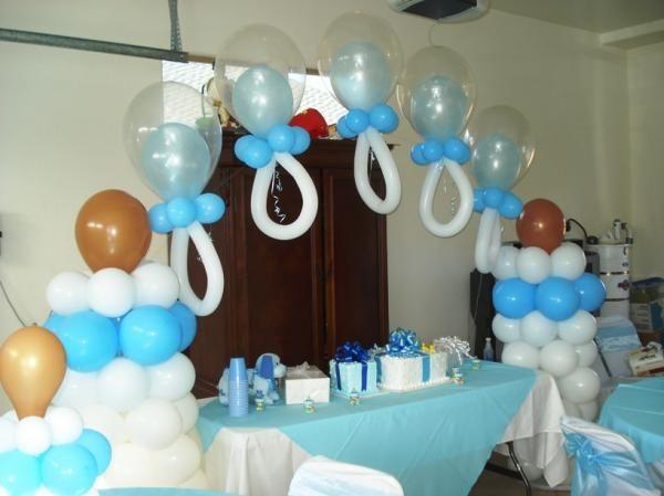 globos para baby shower decoracion con globos para baby