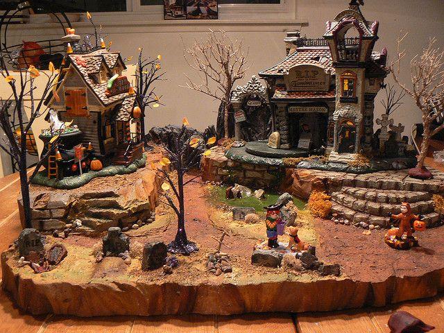 halloween village display dept 56 halloween village cemetery in the slime x - Miniature Halloween Decorations