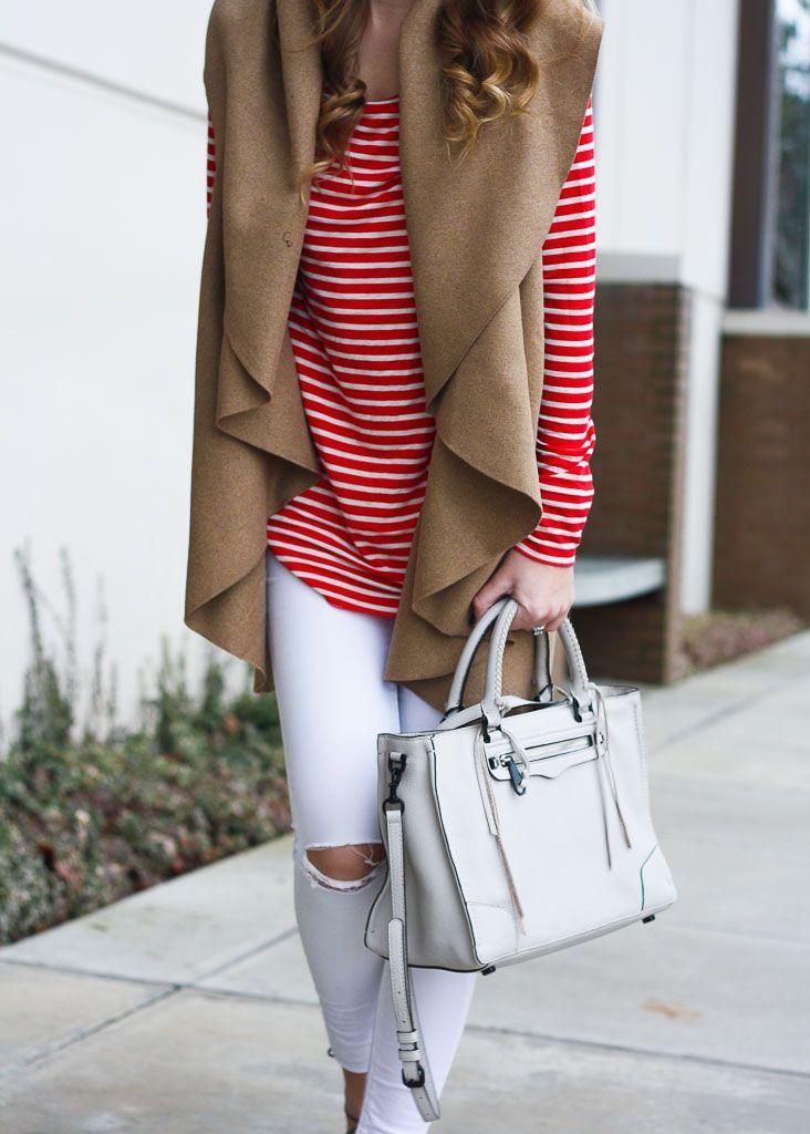 Stripes + a Camel Vest | Twenties Girl Style