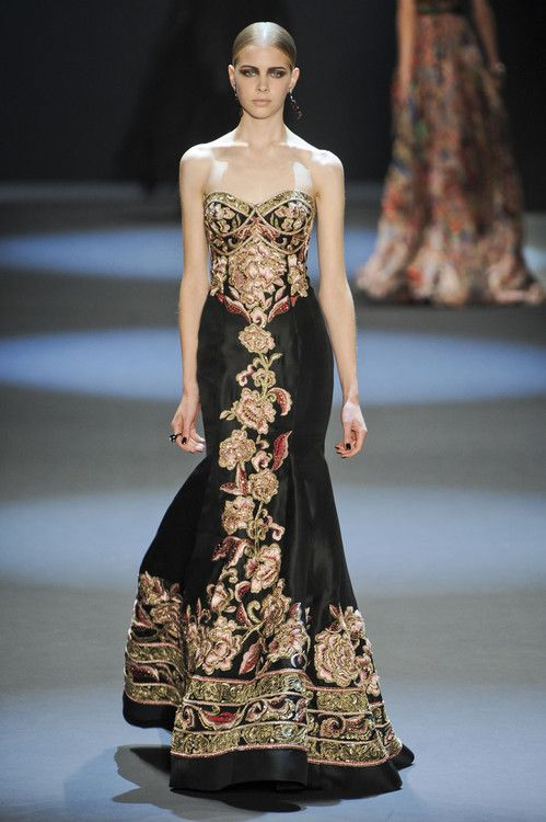 The widow Margaery Tyrell, Naeem Khan fall 2011