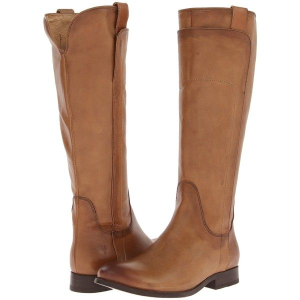 Frye Melissa Tall Riding (Camel Soft Vintage Leather) Cowboy Boots ($180) ❤ liked on Polyvore featuring shoes, boots, tan, cowgirl boots, tall boots, tall riding boots, tan riding boots and cowboy boots