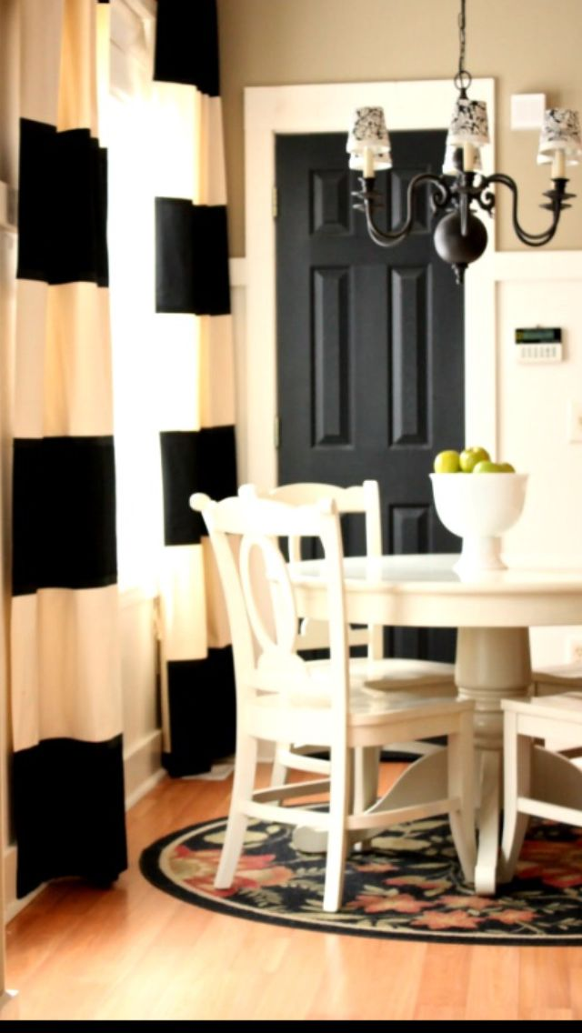 Love this look with the black door/white trim
