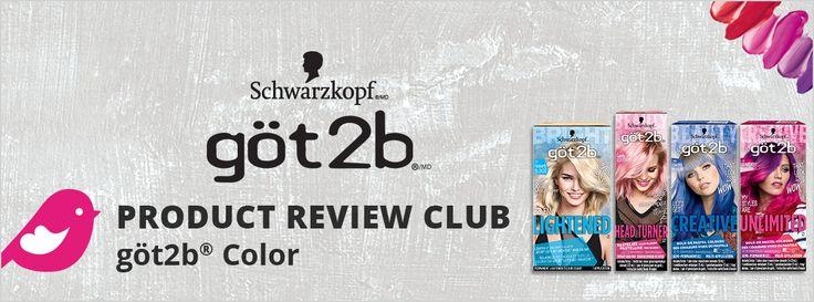 New Product Review Club Offer / Club des bancs d'essai : göt2b color