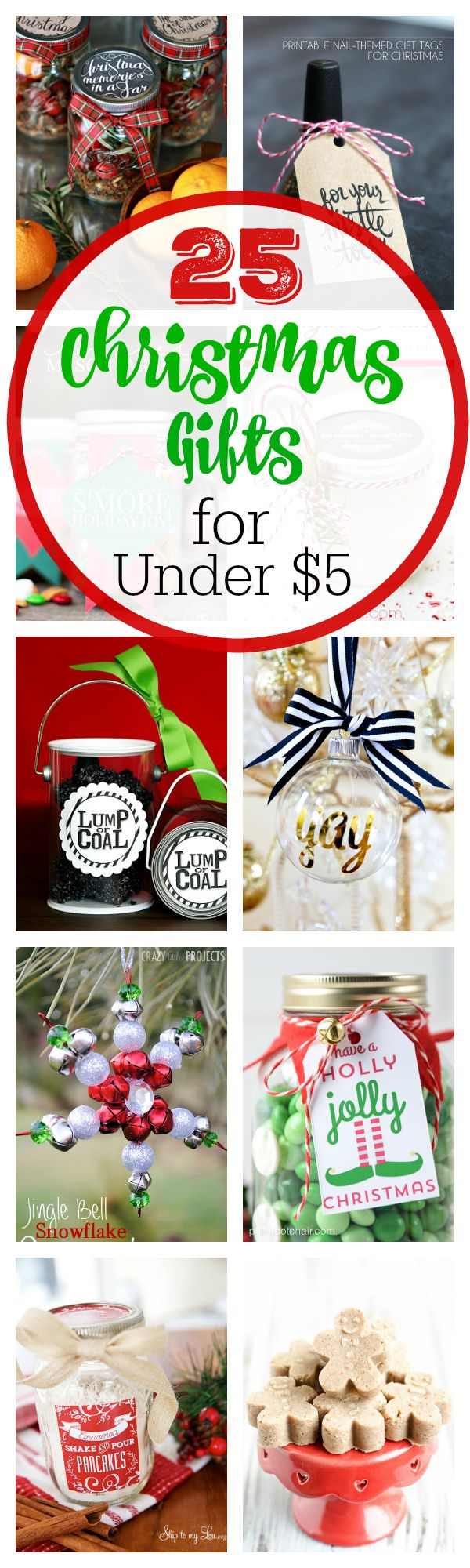 Tweet Pin It Last year I shared a post with 25 Creative Gift Ideas for under $10 and it was a HUGE hit! So let's just get totally crazy this year and find some that are $5 that I can share with you! These are perfect if you are wanting to do a bunch of...Read More »