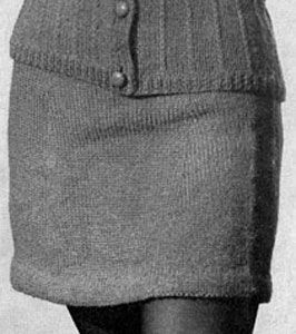 Free vintage skirt knit pattern - from Vests, originally published by Fashions in Wool, Volume No. 120.