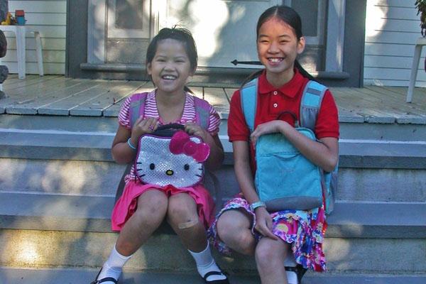 China #adoption diary: #School lunch, sisterly guidance, and hamburgers - CSMonitor.com