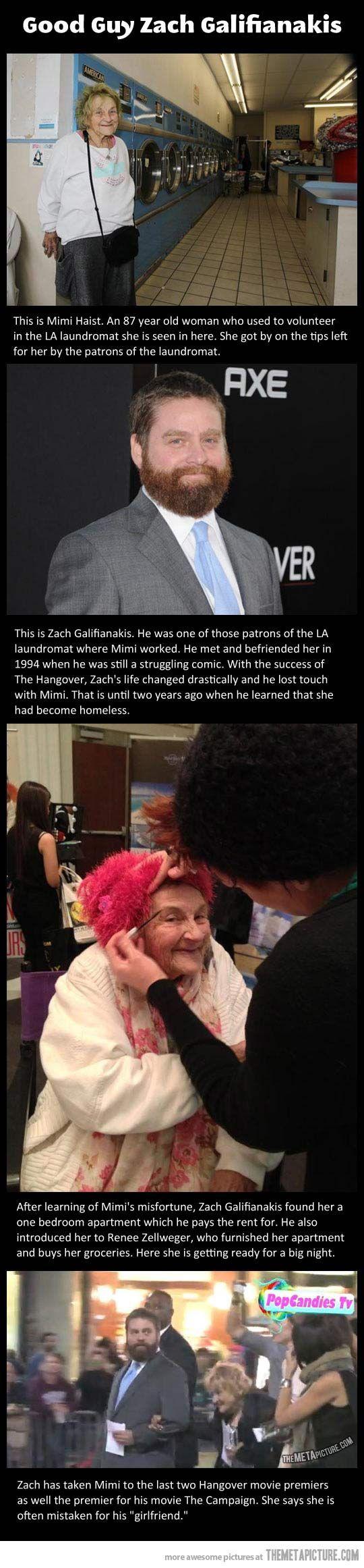 Zach Galifianakis. So very sweet.