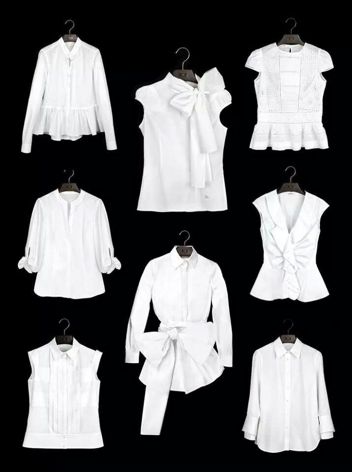 Blusas blancas CH Carolina Herrera
