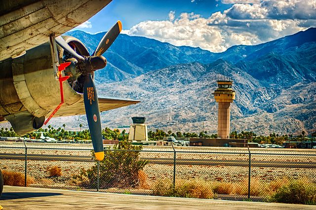 Enjoy the spectacular views at the Palm Springs Air Museum