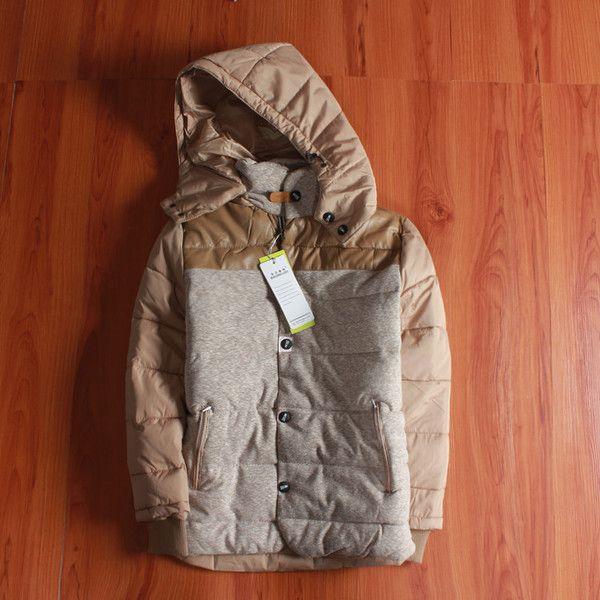 Внутренние модели мальчик хлопок проложенный зимнюю одежду для детей плюс толстый бархат куртка младенца куртки больших целинных малышей