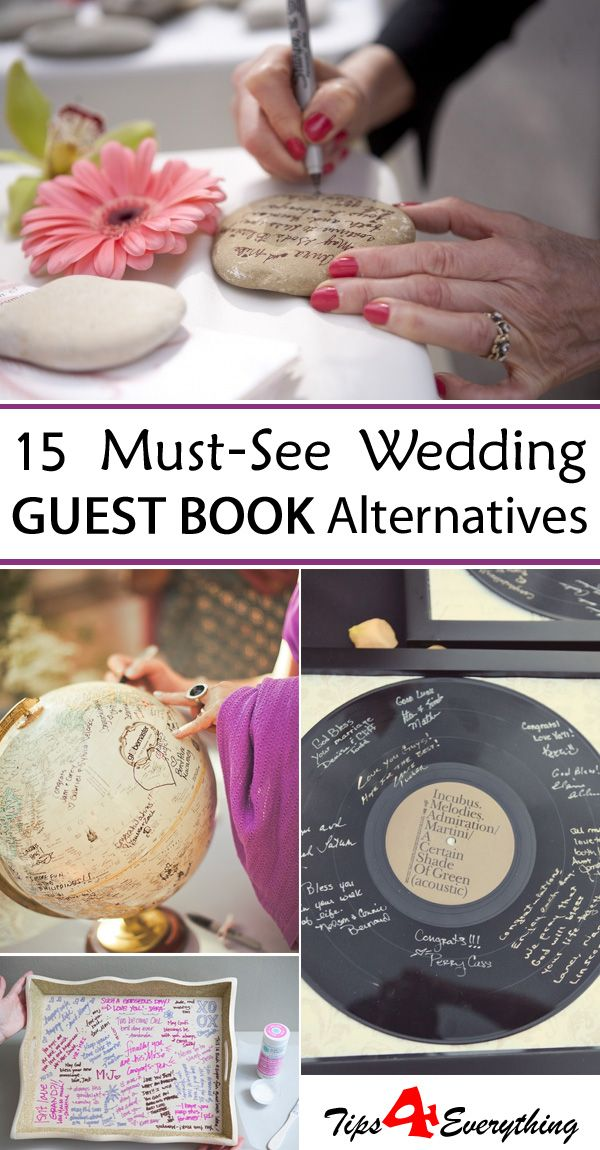 15 Must-See Wedding Guest Book Alternatives →