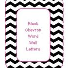 Very trendy black  white chevron word wall letters. Letters are in hot pink.  This would be so adorable on a bulletin board! Hope you can find...