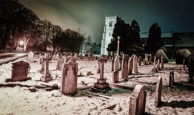 Snow covered St Nicholas church
