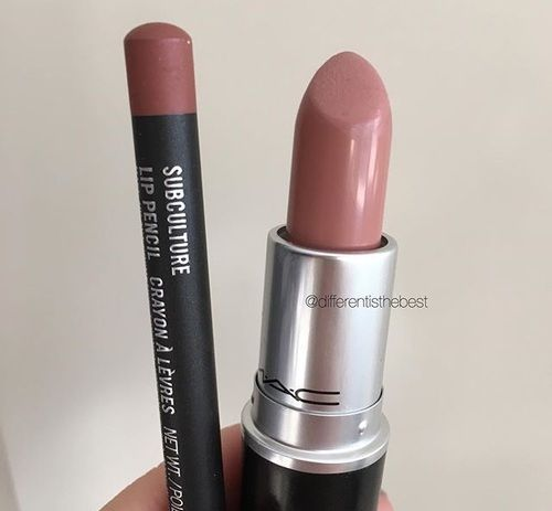 blankety lipstick and subculture lip liner mac