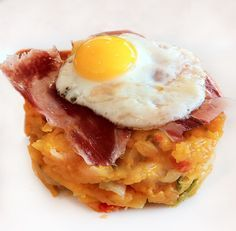 Capricho de patatas con huevo