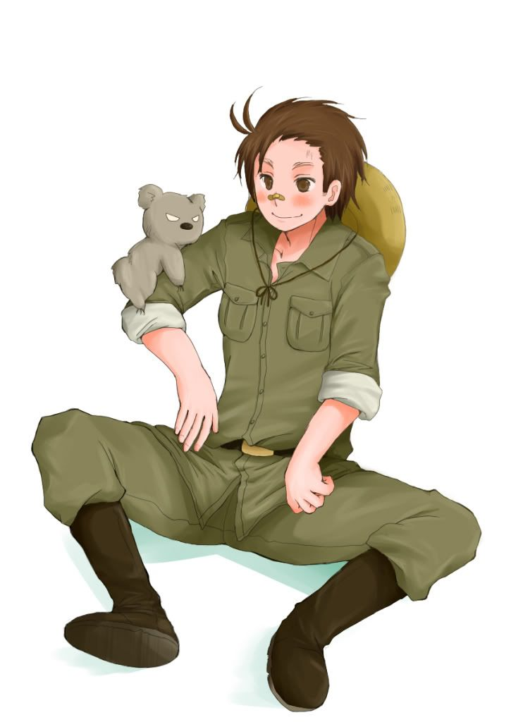 Hetalia 30 day challenge - who'd you rather go camping with? Australia because he knows a lot about nature and that'd be helpful.