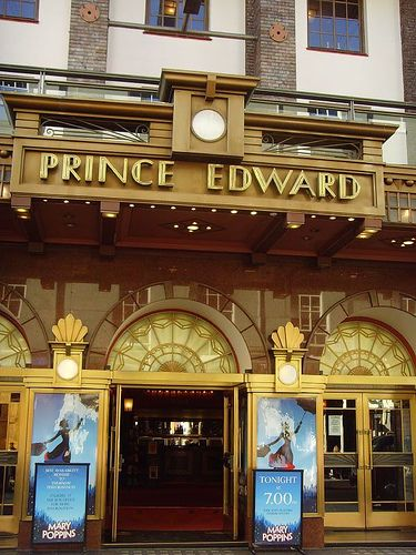 Prince Edward Theatre Little Compton St: London art deco