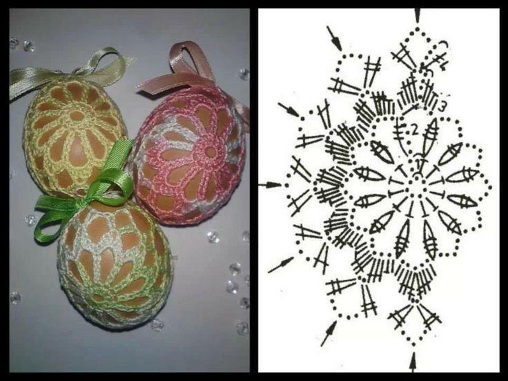 Crochet Easter egg  cover diagram